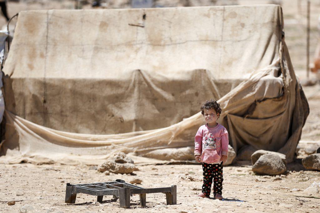 Kind in einem Flüchtlingslager