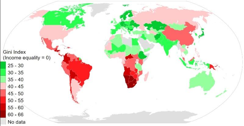 GINI Koeffizient 2014