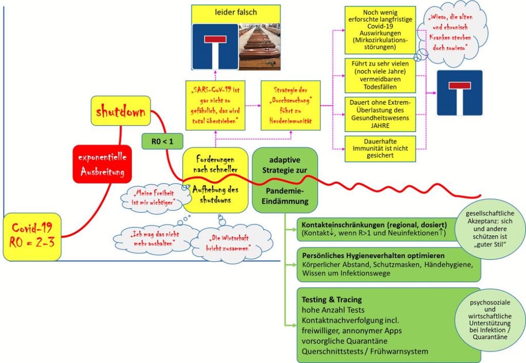 Anstelle von Sackgassen: Adaptive Strategie zur Eindämmung der Covid-19-Pandemie